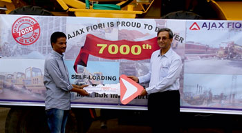 Ajax Fiori rolles out its 7,000th self-loading concrete mixer