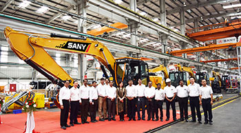 SANY India rolls out 1,000th & 1,001st machine from Chakan plant