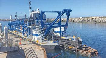 DSC Dredge delivers customised dredge to Santa Cruz Harbour