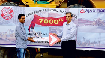 Ajax Fiori rolles out 7,000th self-loading concrete mixer