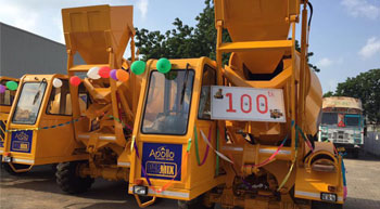 Apollo Carmix sells 100th small mobile concrete batching plant in India