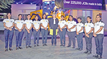 May visits JCB India plant