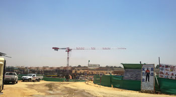 Potain MDT 389 cranes at the construction of largest mall in Egypt