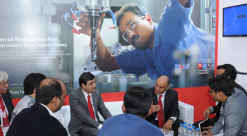 ExxonMobil showcases its hydraulic oils and grease range at IMTEX 2017