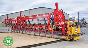 New triple roller tube paver
