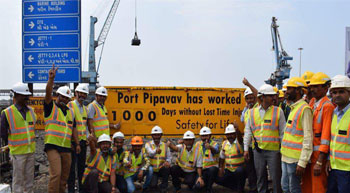 1,000 days of safe operations at APM Terminals Pipavav