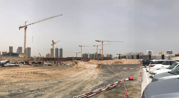Potain cranes at Middle East tech hub