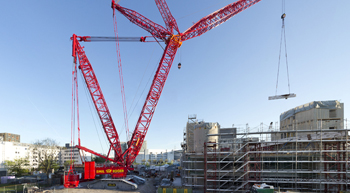 First Liebherr LR 11000 crawler crane in Switzerland