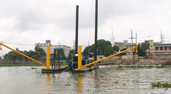DSC Dredge bags Bangladesh order for portable cutter suction dredges