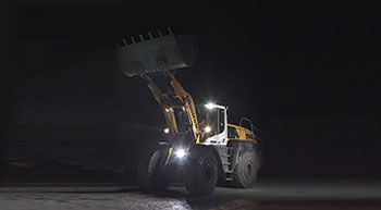 Liebherr adds new lighting option to XPower wheel loaders
