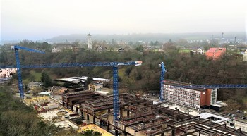 Interkran erects five Raimondi tower cranes in Schaffhausen