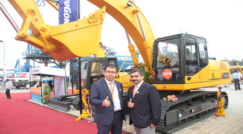 LiuGong India launches new excavator and compactor at Excon