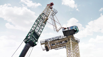 Bennetts erects Raimondi luffing crane in London