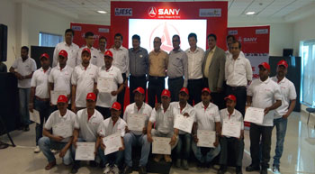 SANY India completes first batch of IESC operator training
