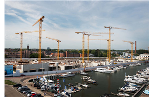 WOLFF cranes building blue quarters in Flanders