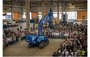 Liebherr-France unveils 60,000th crawler excavator