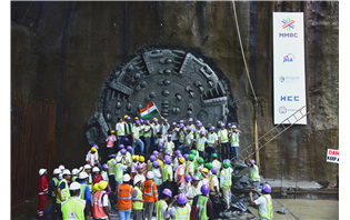 HCC completes first tunnel for Mumbai Metro III project