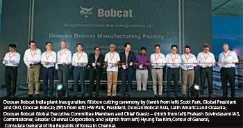 Doosan Bobcat opens new production facility