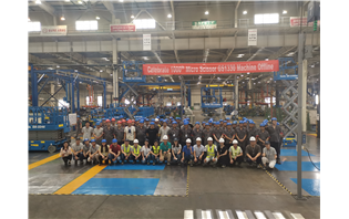 Terex AWP celebrates production milestone