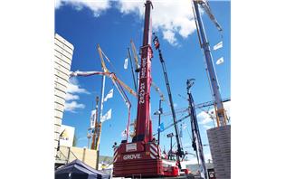Manitowoc Cranes on display at MATEXPO 2019