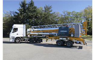 Manitowoc launches Potain Hup M 28-22 with 80 km/h transport axle