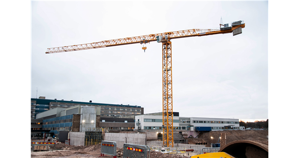 ByggDialog using largest Potain topless tower crane