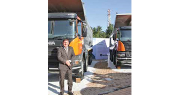 Scania showcases P410 mining tippers