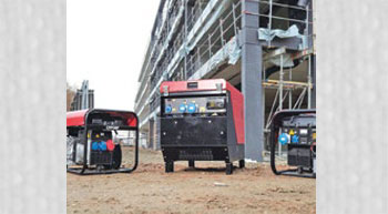 Portable generators for construction industry