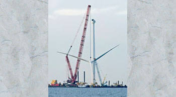 Liebherr LR 11350 erects large near-shore wind farm