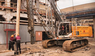 The Liebherr foundation equipment performs excellently
