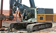 Liebherr LRB 155 Breaking Ground in India