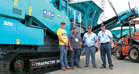Powerscreens newly painted machines at bauma Africa